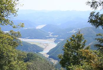 三十丁石付近からの眺望