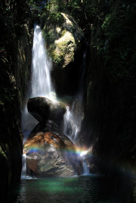 那智勝浦町「陰陽の滝」 Inyo-no-Taki fall at Nachi-Katsuura