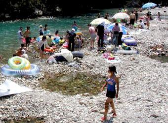 夏の川湯温泉