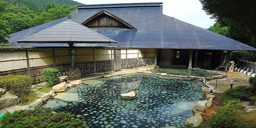 Large open-air bath